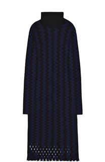 Шерстяное вязаное платье-миди с длинным рукавом Diane Von Furstenberg