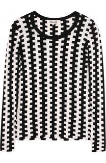 Приталенный шерстяной пуловер с круглым вырезом Diane Von Furstenberg