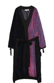 Платье-миди с запахом и длинным рукавом Diane Von Furstenberg