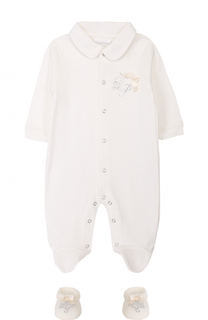 Хлопковая пижама с пинетками La Perla