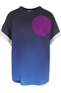 Хлопковая футболка с круглым вырезом и принтом 3.1 Phillip Lim