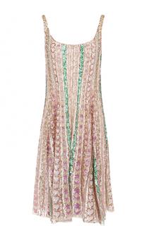 Шелковое мини-платье свободного кроя Valentino