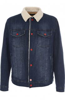 Джинсовая куртка с меховой подкладкой Kiton