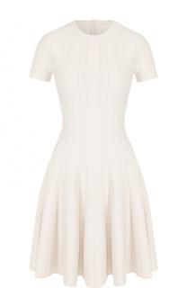 Приталенное мини-платье с коротким рукавом Alaia