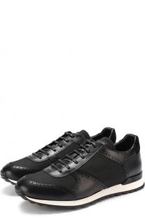 Комбинированные кроссовки на шнуровке Kiton