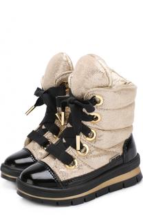 Ботинки с текстильной отделкой на шнуровке Jog Dog