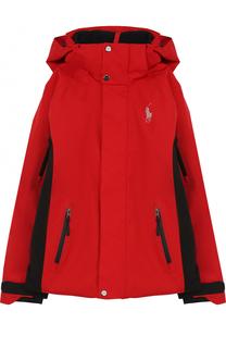 Куртка с контрастной отделкой и капюшоном Polo Ralph Lauren