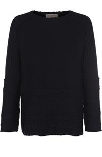 Шерстяной свитер фактурной вязки Yohji Yamamoto