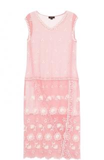 Платье-миди прямого кроя без рукавов Burberry