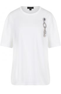 Хлопковая футболка прямого кроя с круглым вырезом Burberry