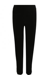 Укороченные бархатные брюки прямого кроя Giorgio Armani