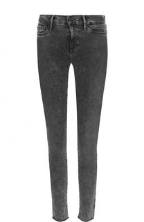 Укороченные джинсы-скинни с потертостями Frame Denim