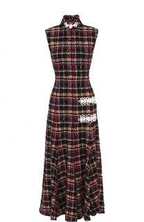 Приталенное буклированное платье-миди Alessandra Rich
