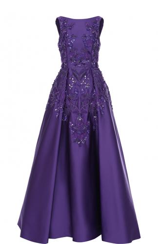 Приталенное платье-макси с декоративной отделкой Zuhair Murad