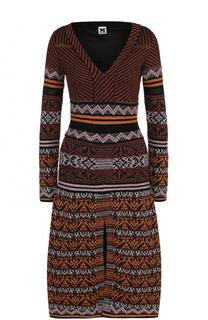 Вязаное платье-миди с высоким разрезом M Missoni