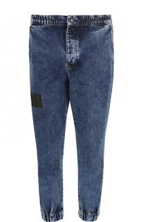 Укороченные джинсы с поясом и манжетами на резинке Kenzo