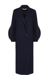 Удлиненное шерстяное пальто прямого кроя Victoria Beckham