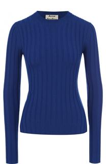 Шерстяной облегающий пуловер с круглым вырезом Acne Studios