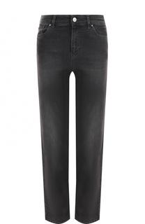 Укороченные джинсы прямого кроя с потертостями Armani Jeans