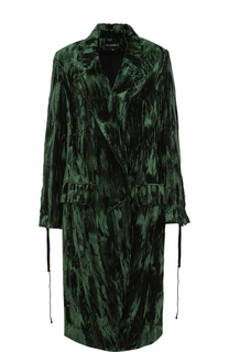 Приталенное бархатное пальто с карманами Ann Demeulemeester