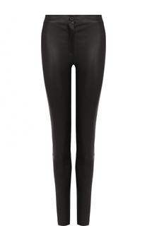 Однотонные кожаные брюки-скинни Ann Demeulemeester