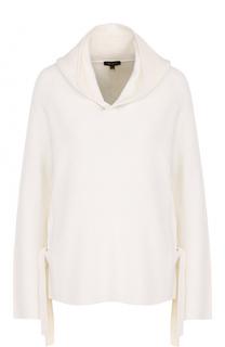 Шерстяной свитер фактурной вязки с капюшоном Escada