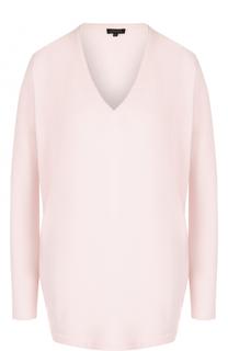 Пуловер из смеси шерсти и кашемира с V-образным вырезом Escada