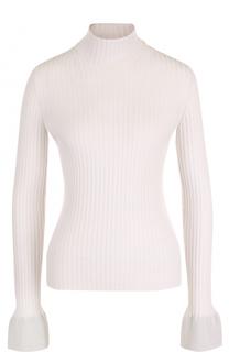 Шерстяной приталенный свитер с высоким воротником MRZ