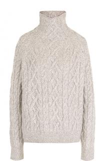 Шерстяной свитер фактурной вязки с высоким воротником Vince