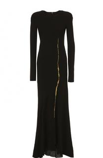 Приталенное платье-макси с длинным рукавом Haider Ackermann