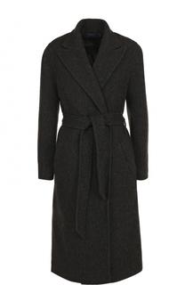 Однотонное шерстяное пальто с поясом Polo Ralph Lauren
