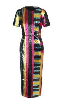 Приталенное платье-миди с завышенной талией и пайетками Diane Von Furstenberg