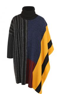 Шерстяной свитер свободного кроя с высоким воротником Kenzo