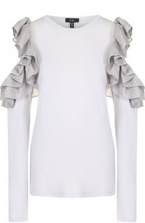 Блуза с разрезами на рукавах с оборками Clu