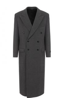 Двубортное шерстяное пальто с отложным воротником Balenciaga