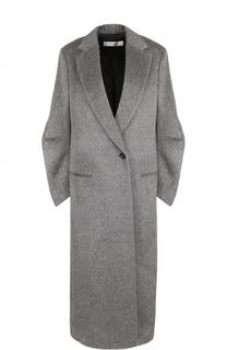 Удлиненное шерстяное пальто на одной пуговице Victoria Beckham
