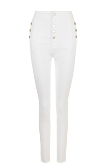 Однотонные джинсы-скинни с завышенной талией J Brand