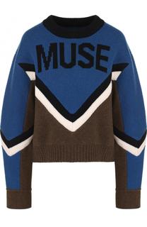 Шерстяной пуловер свободного кроя с круглым вырезом Zadig&Voltaire Zadig&Voltaire
