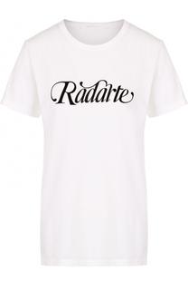 Футболка с круглым вырезом и надписью Rodarte