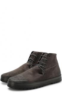 Замшевые ботинки на шнуровке Marsell