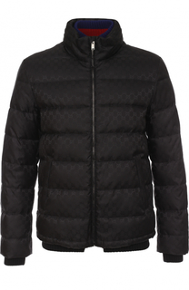 Утепленная куртка на молнии с воротником-стойкой Gucci