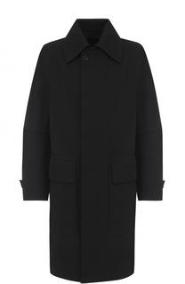 Пальто свободного кроя из смеси шерсти и хлопка Ann Demeulemeester
