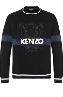 Хлопковый свитшот с аппликацией Kenzo