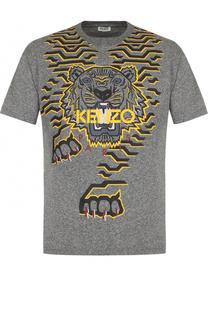 Хлопковая футболка с принтом Kenzo