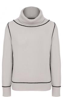 Кашемировый свитер с контрастной отделкой Giorgio Armani