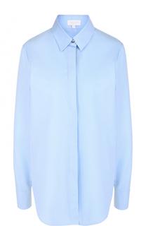 Однотонная хлопковая блуза прямого кроя Escada Sport