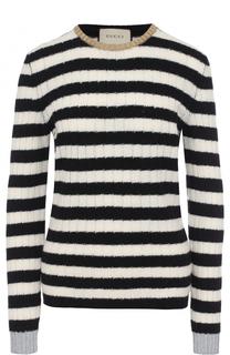 Пуловер из смеси шерсти и кашемира в полоску Gucci