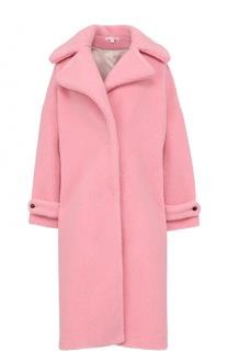 Шерстяное однотонное пальто свободного кроя Olympia Le-Tan