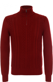 Кашемировый свитер фактурной вязки с воротником на молнии Loro Piana