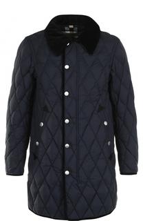 Удлиненная куртка на молнии с отложным воротником Burberry